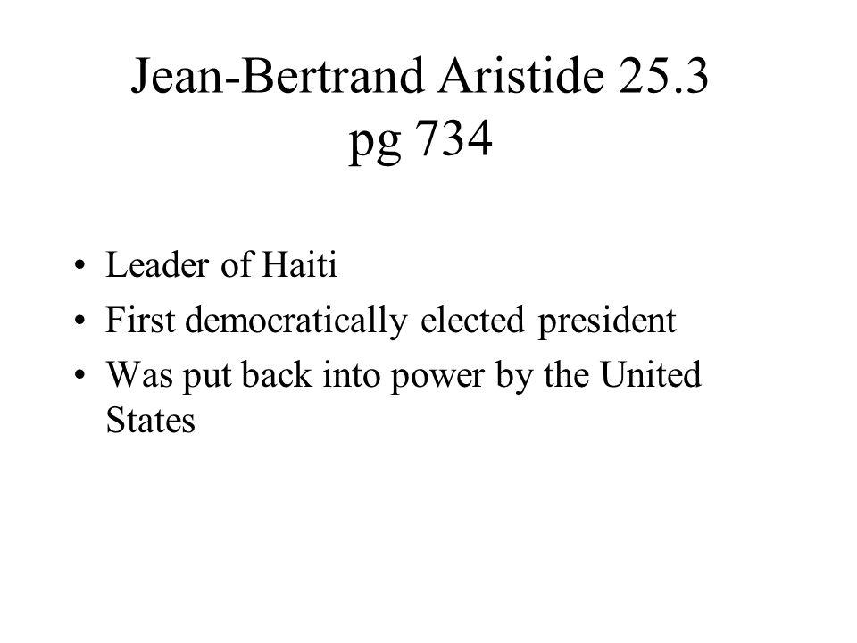 Jean-Bertrand Aristide 25.3 pg 734