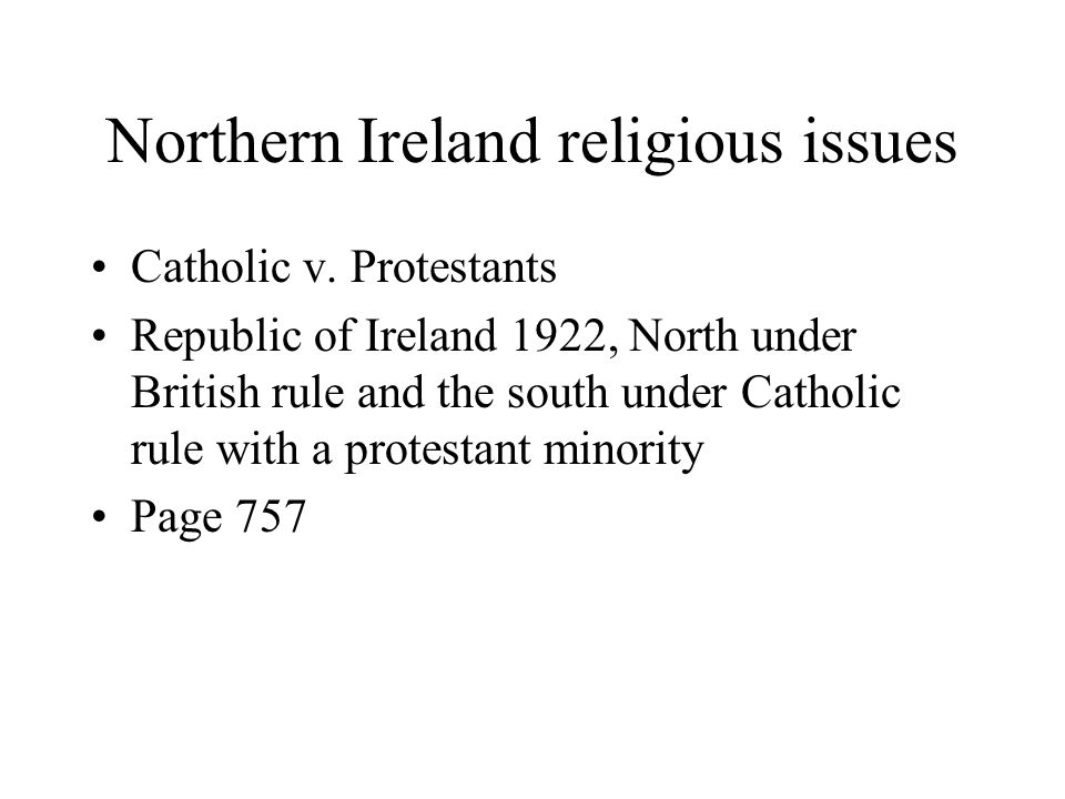 Northern Ireland religious issues