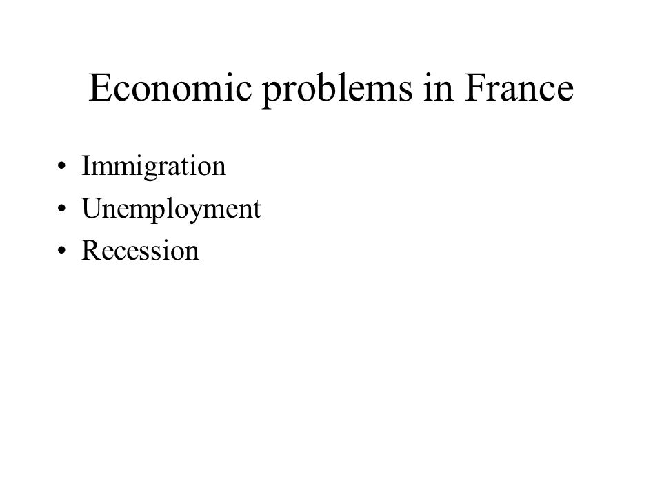 Economic problems in France