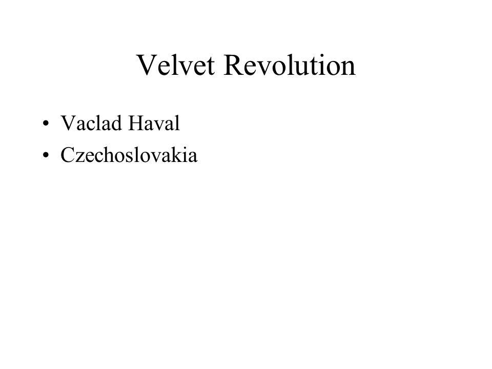 Velvet Revolution Vaclad Haval Czechoslovakia
