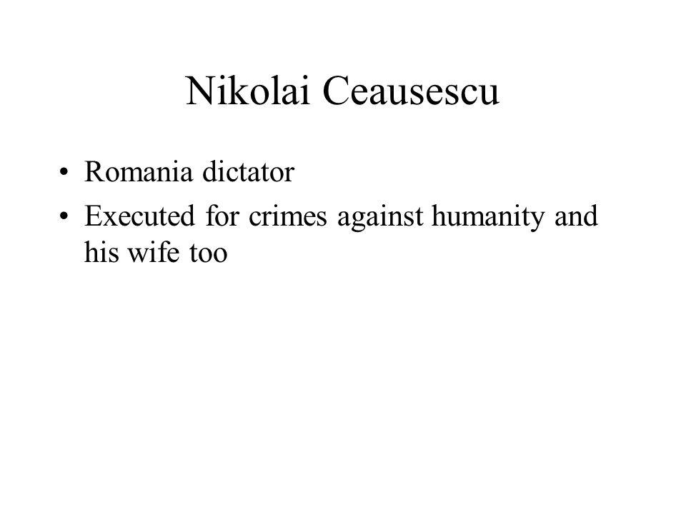 Nikolai Ceausescu Romania dictator
