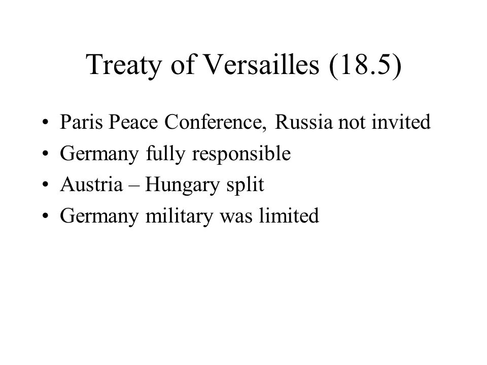Treaty of Versailles (18.5)
