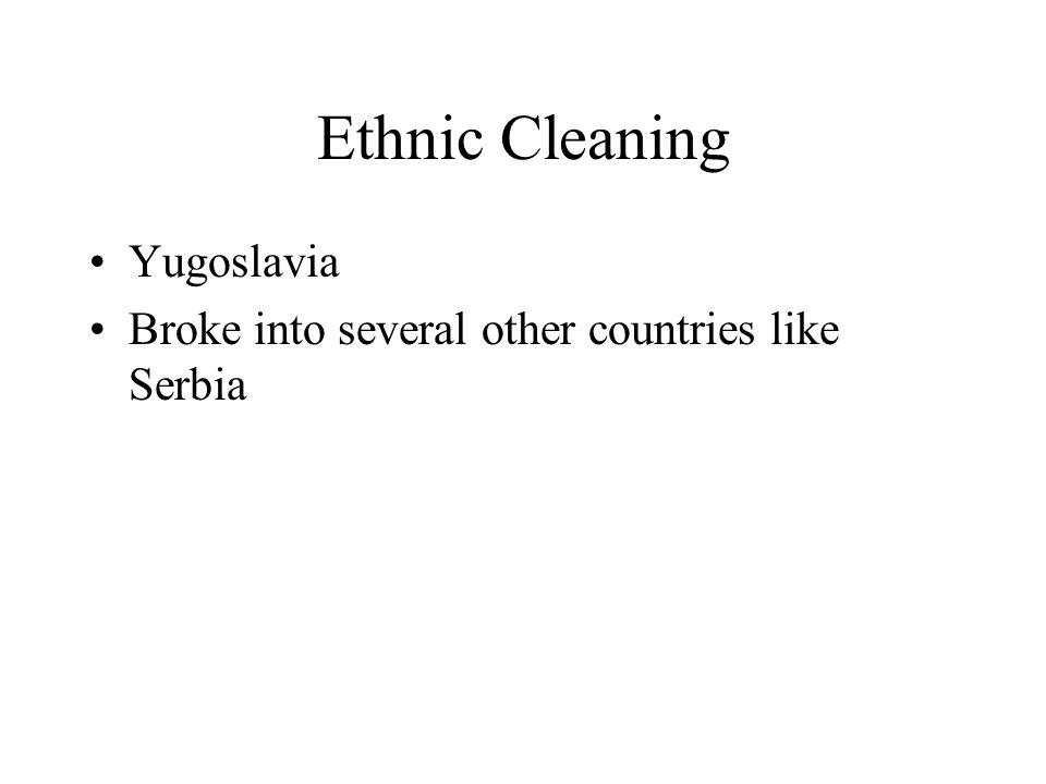 Ethnic Cleaning Yugoslavia