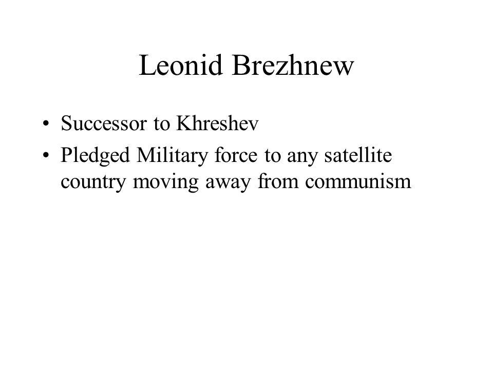 Leonid Brezhnew Successor to Khreshev