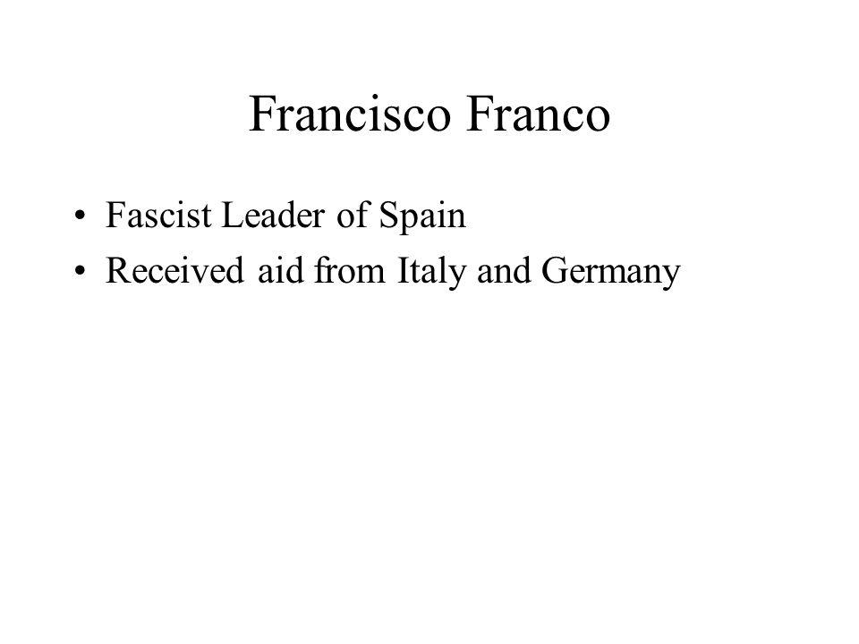 Francisco Franco Fascist Leader of Spain