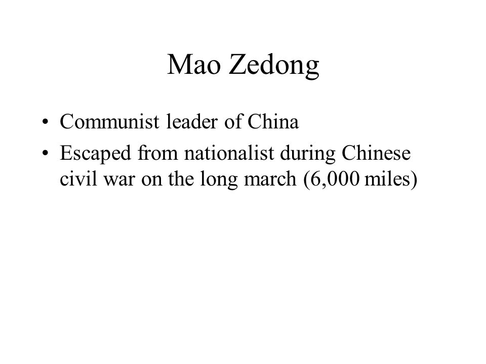 Mao Zedong Communist leader of China