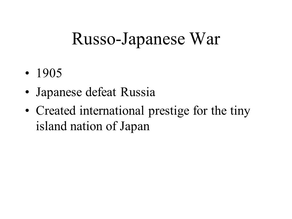 Russo-Japanese War 1905 Japanese defeat Russia