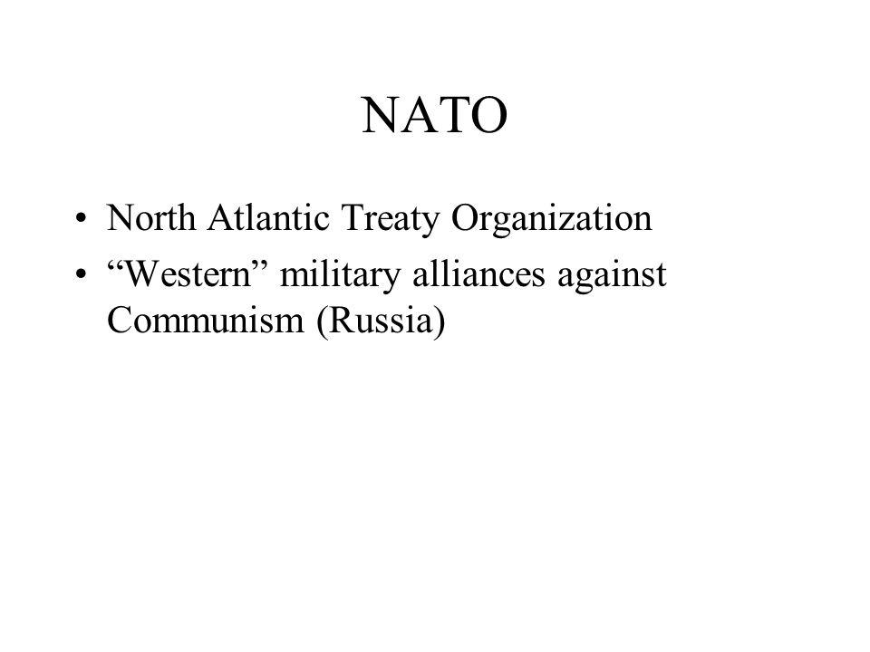 NATO North Atlantic Treaty Organization