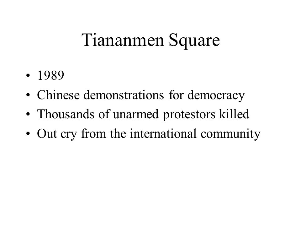 Tiananmen Square 1989 Chinese demonstrations for democracy
