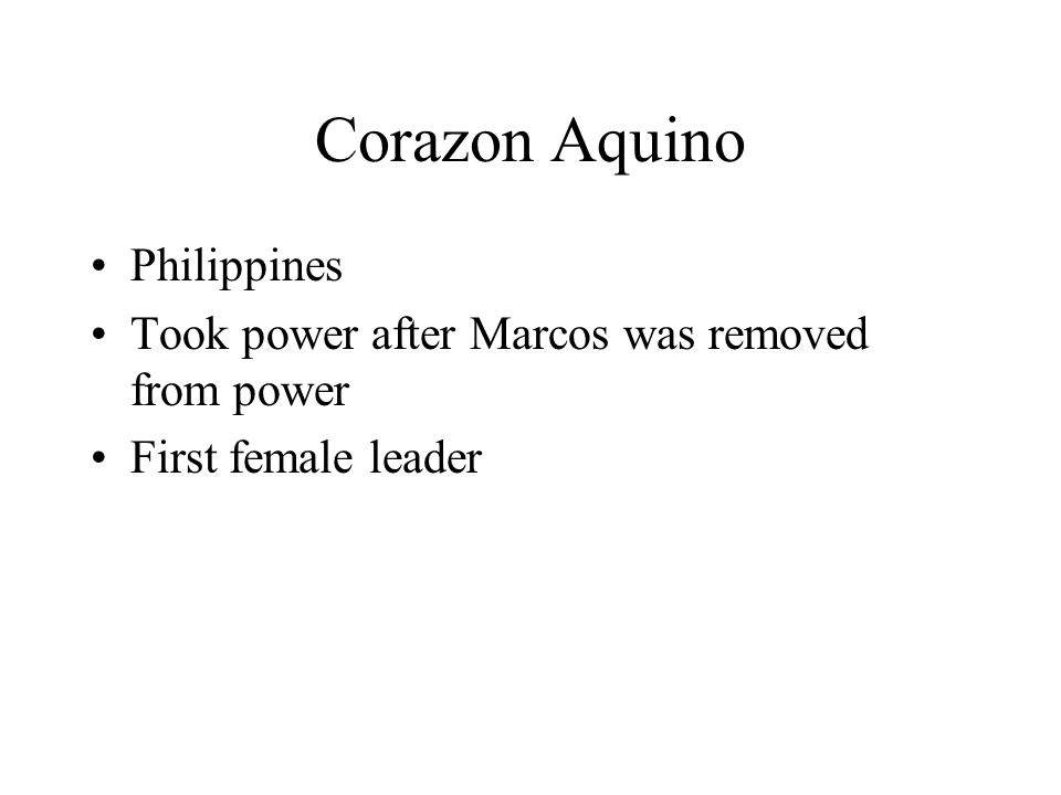 Corazon Aquino Philippines