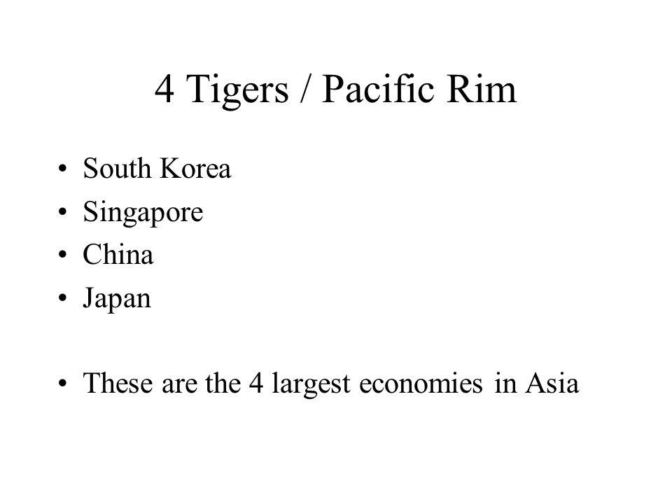 4 Tigers / Pacific Rim South Korea Singapore China Japan