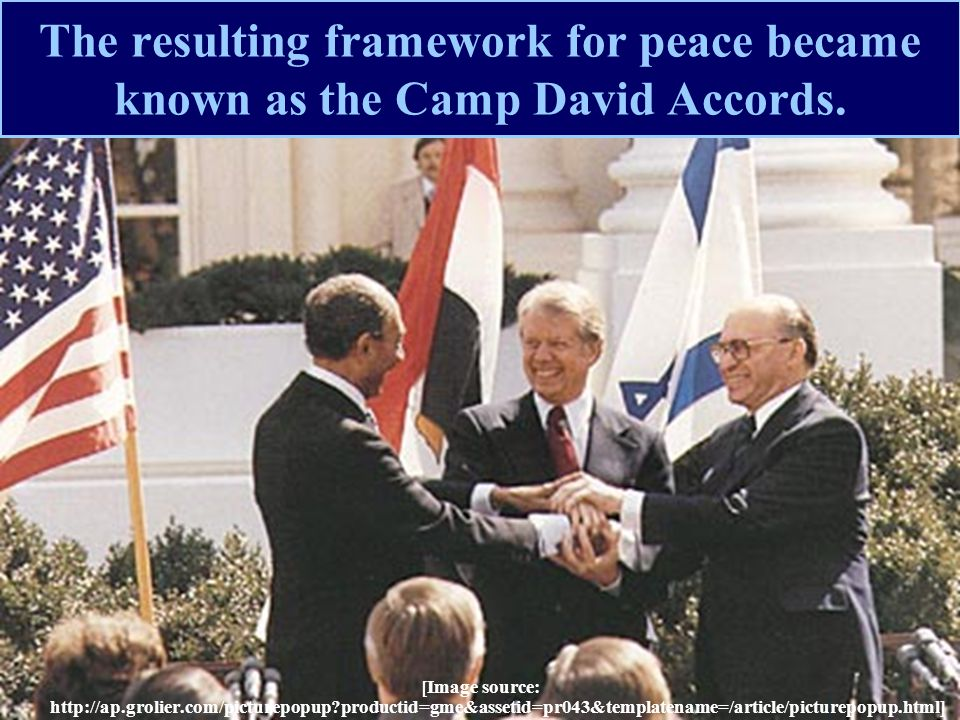 The resulting framework for peace became known as the Camp David Accords.
