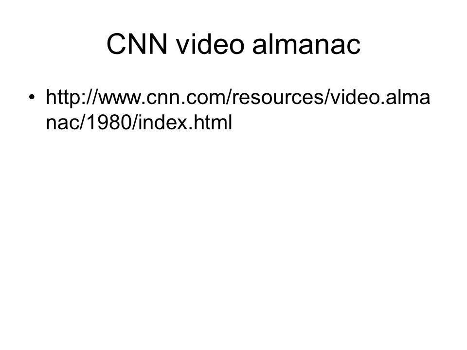 CNN video almanac http://www.cnn.com/resources/video.almanac/1980/index.html