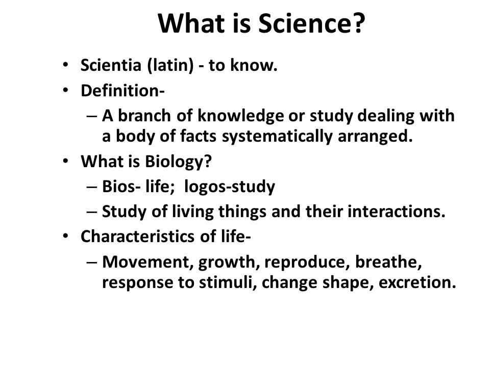 What is Science Scientia (latin) - to know. Definition-