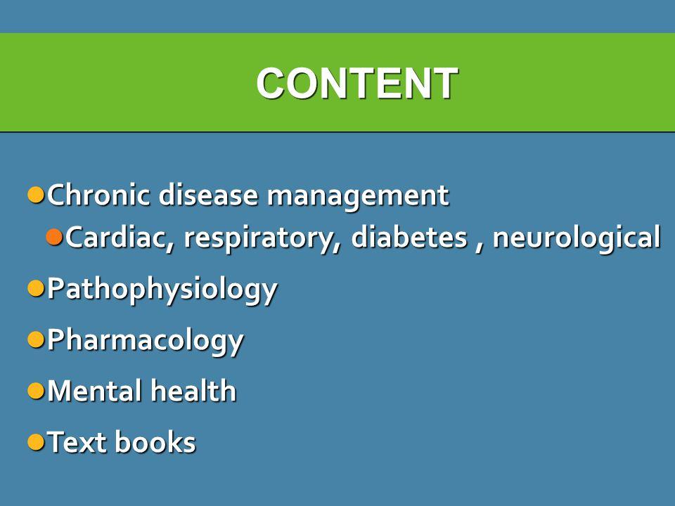 CONTENT Chronic disease management