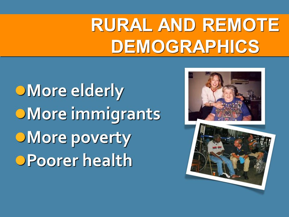 RURAL AND REMOTE DEMOGRAPHICS