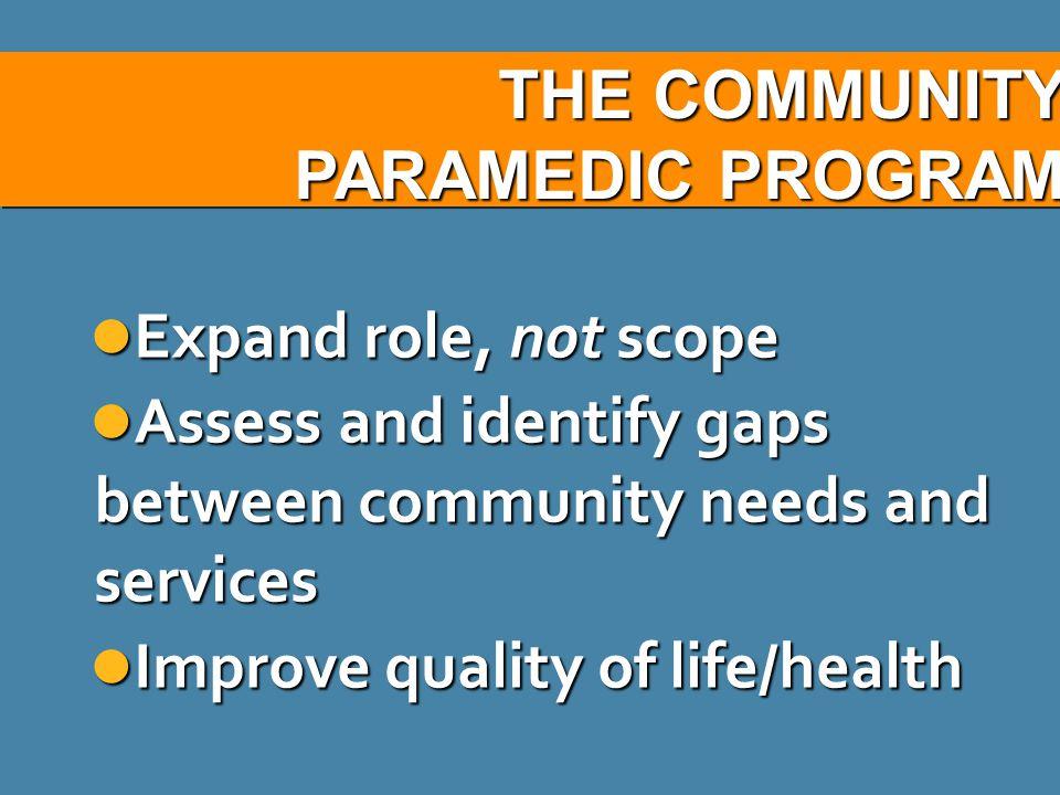 THE COMMUNITY PARAMEDIC PROGRAM