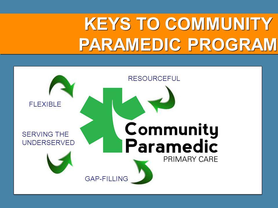 KEYS TO COMMUNITY PARAMEDIC PROGRAM