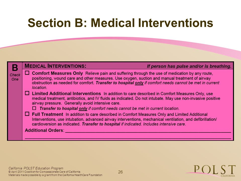 Section B: Medical Interventions