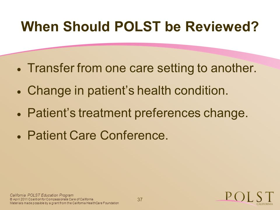 When Should POLST be Reviewed