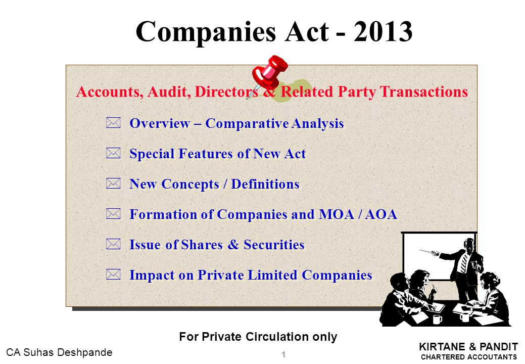 Accounts, Audit, Directors & Related Party Transactions