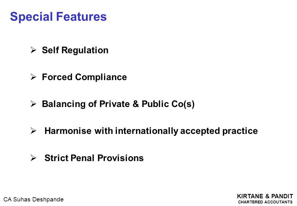 Special Features Self Regulation Forced Compliance
