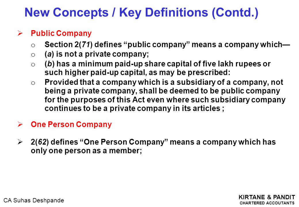 New Concepts / Key Definitions (Contd.)