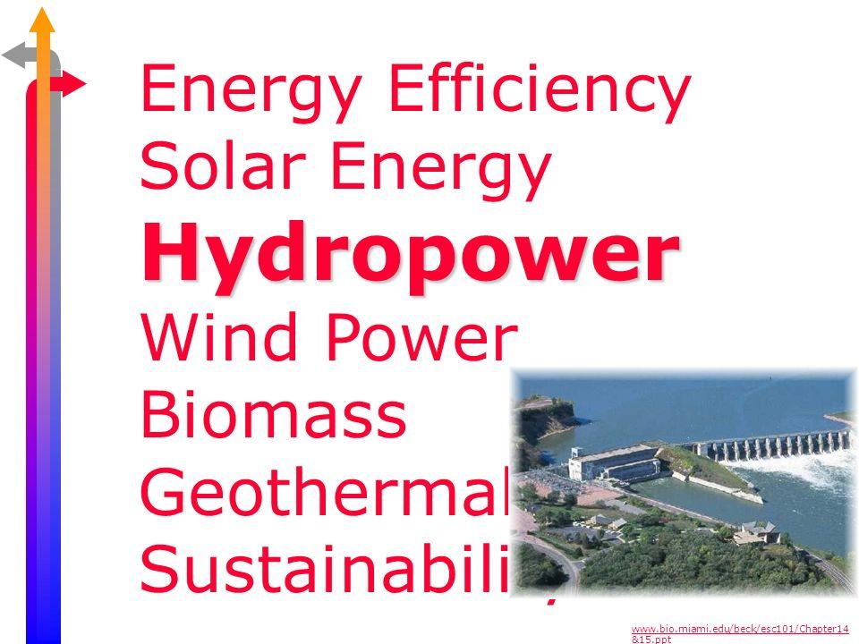 Hydropower Energy Efficiency Solar Energy Wind Power Biomass