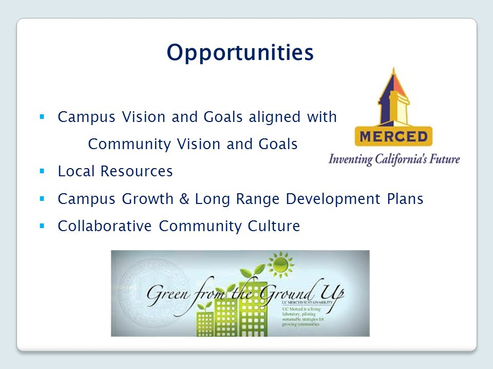 Opportunities Campus Vision and Goals aligned with