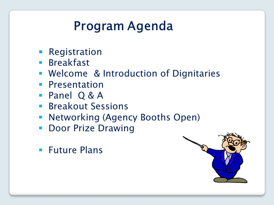Program Agenda Registration Breakfast