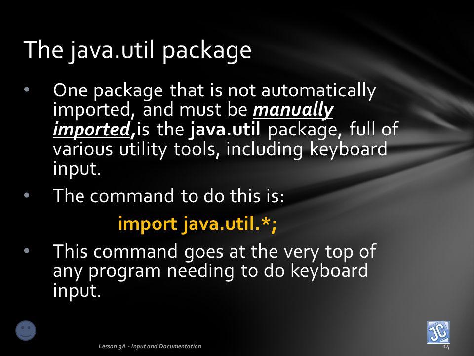The java.util package
