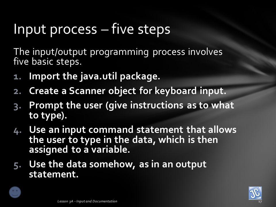 Input process – five steps