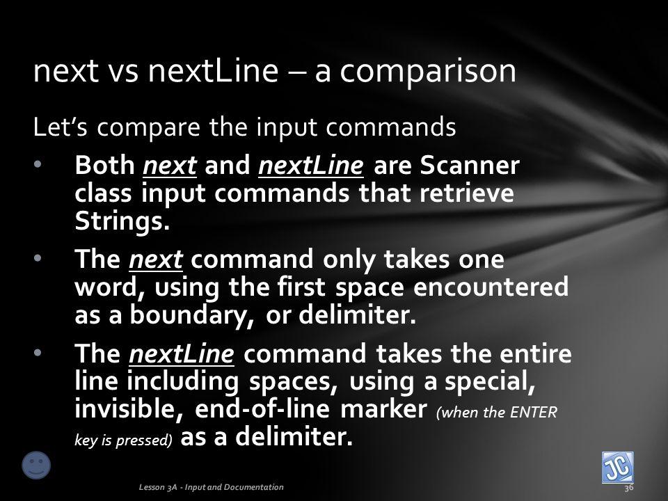 next vs nextLine – a comparison