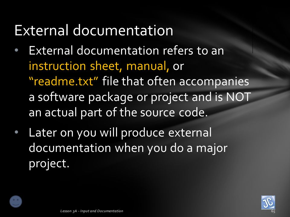 External documentation
