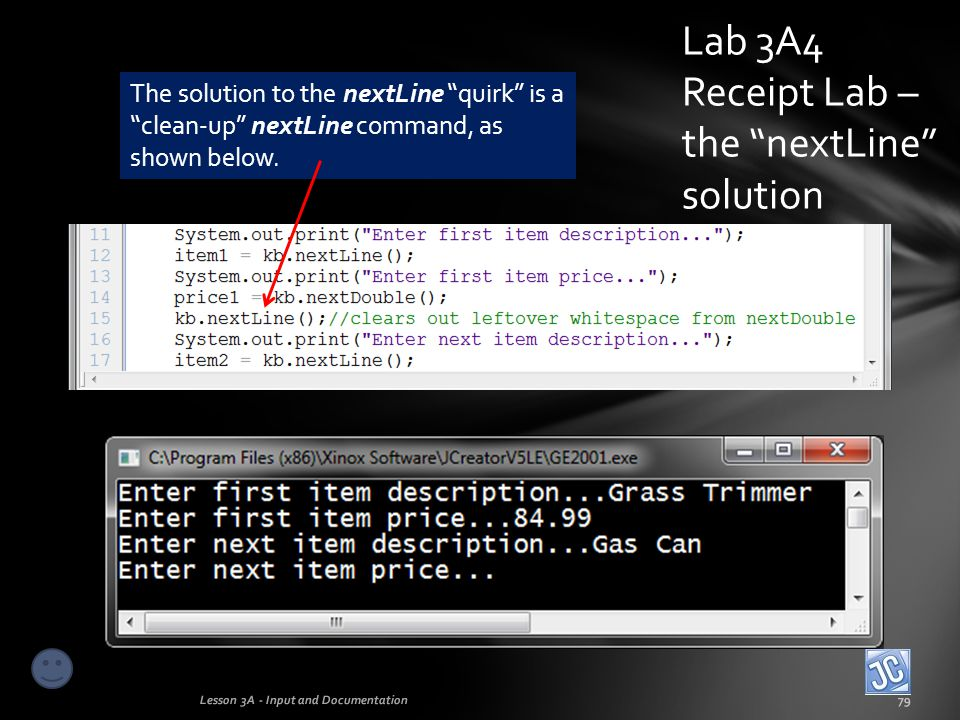 Lab 3A4 Receipt Lab – the nextLine solution