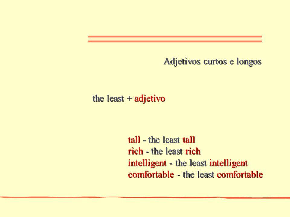 Adjetivos curtos e longos