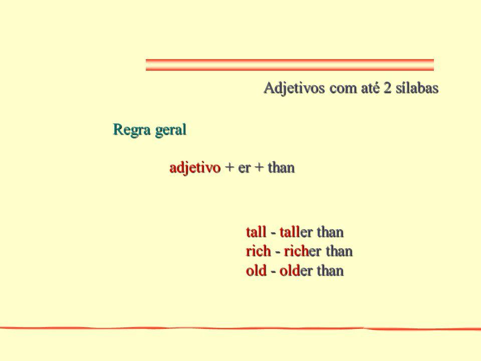 Adjetivos com até 2 sílabas