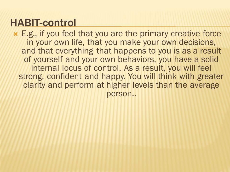 HABIT-control