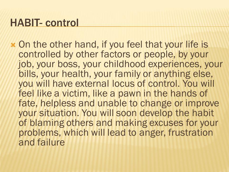 HABIT- control