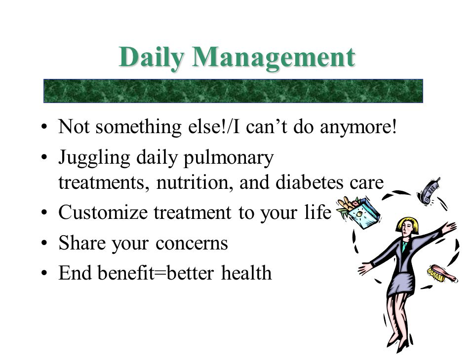 Daily Management Not something else!/I can't do anymore!