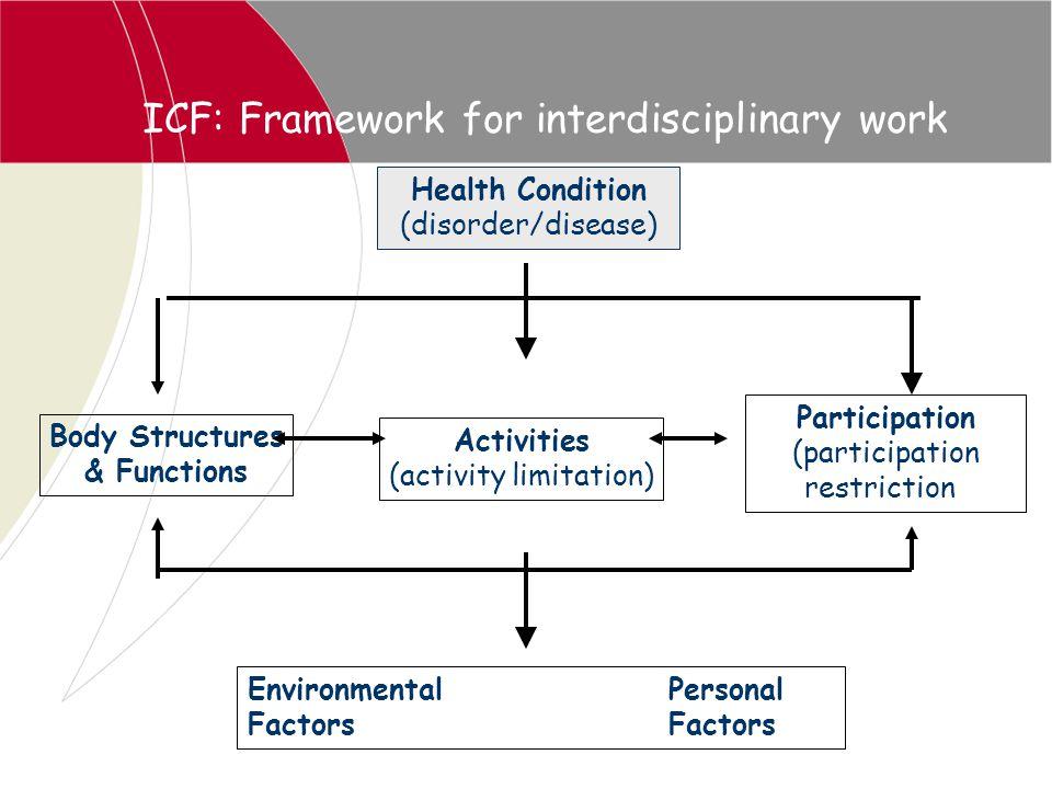ICF: Framework for interdisciplinary work