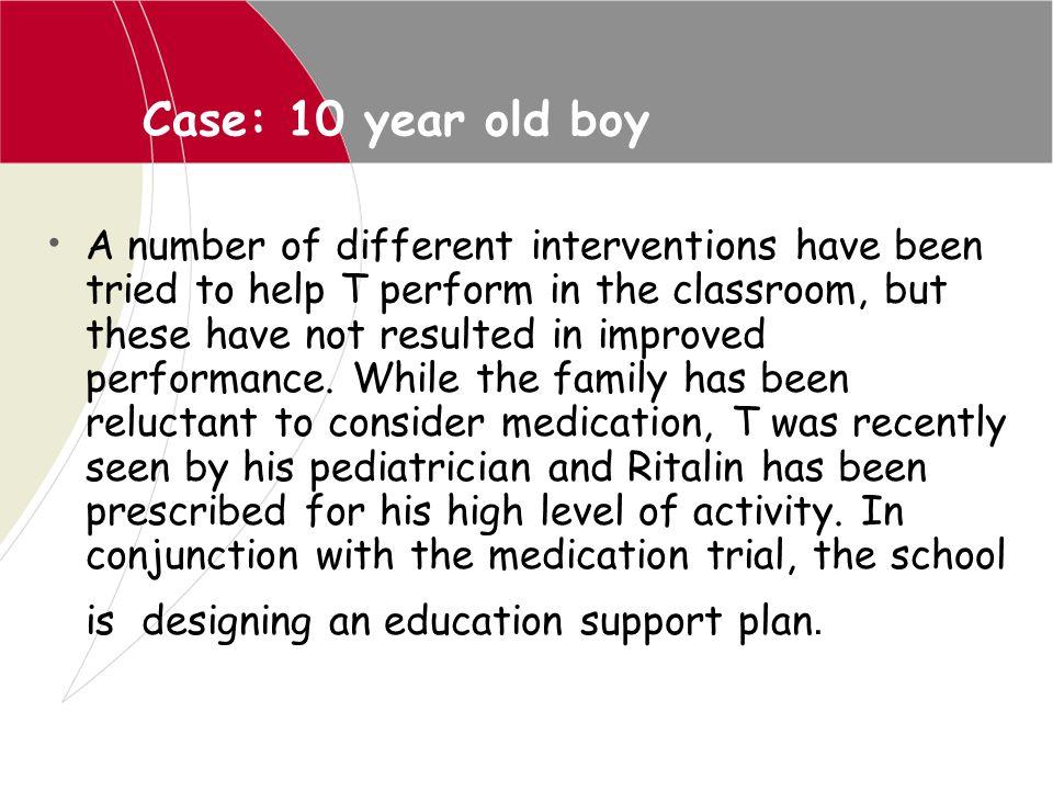 Case: 10 year old boy