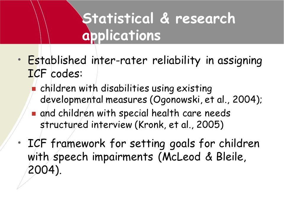 Statistical & research applications