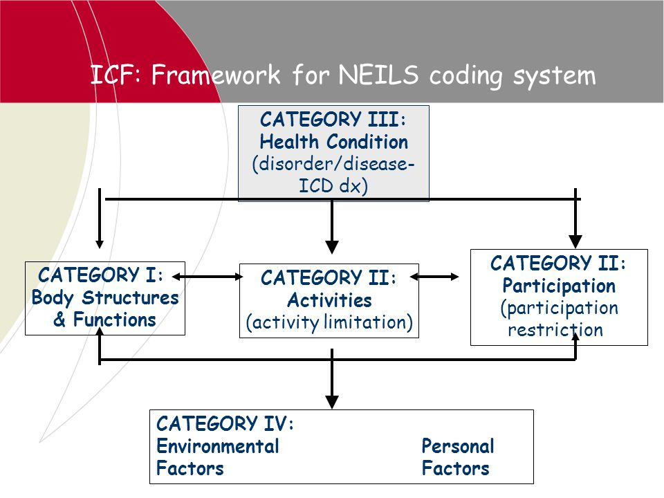 ICF: Framework for NEILS coding system