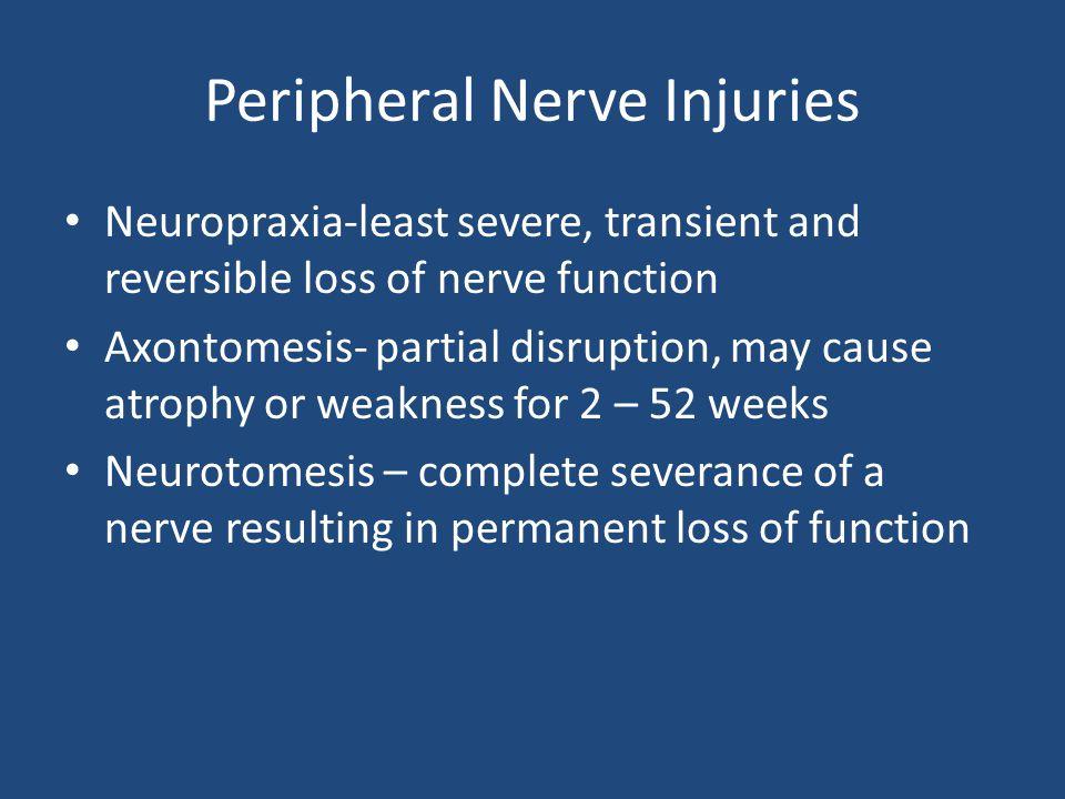 Peripheral Nerve Injuries