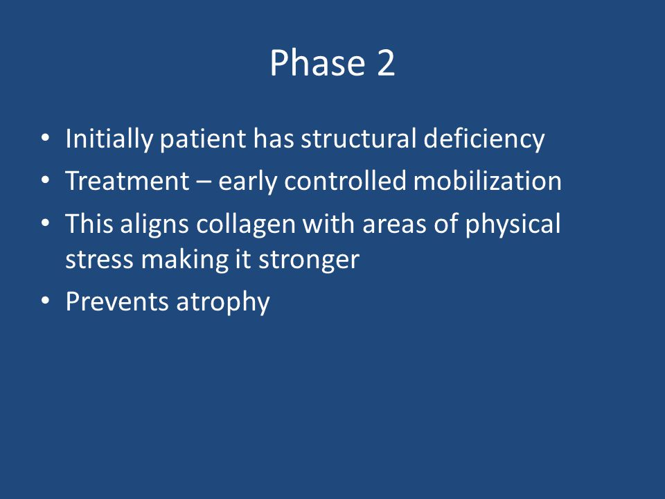 Phase 2 Initially patient has structural deficiency