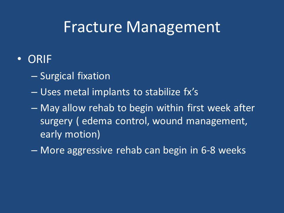 Fracture Management ORIF Surgical fixation