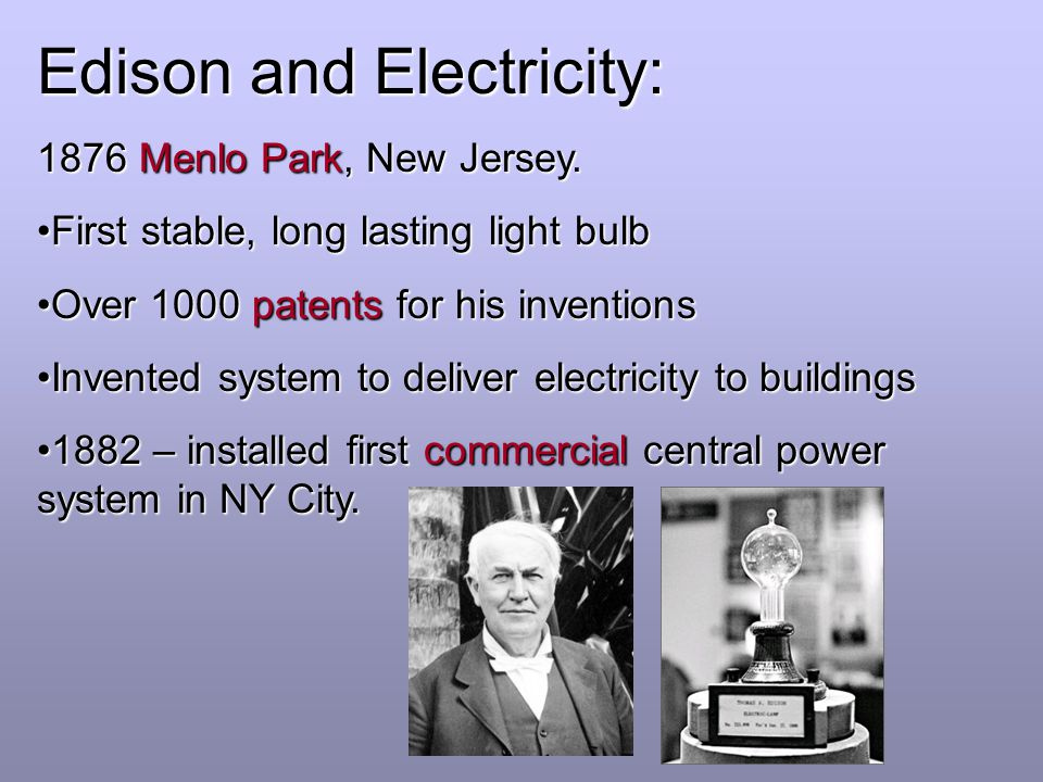 Edison and Electricity: