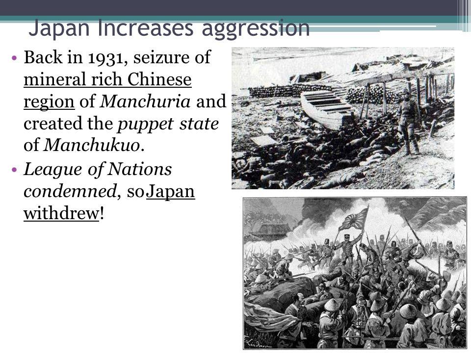 Japan Increases aggression