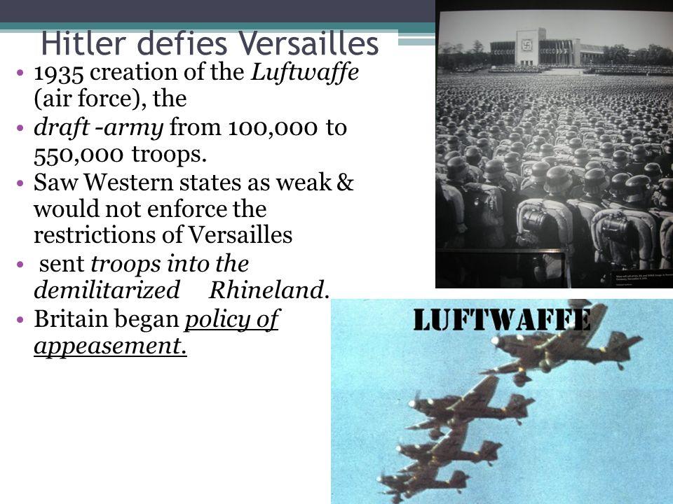 Hitler defies Versailles